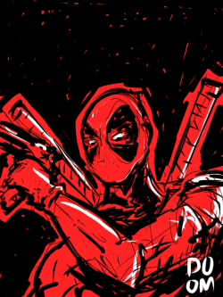 Deadpool sketch in Sketchbook Ink