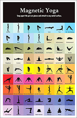 Yoga Magnets - via Yoga Accessories.