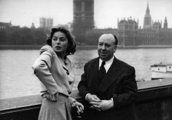 theconstantbuzz:  Ingrid Bergman and Alfred Hitchcock © Kurt Hutton