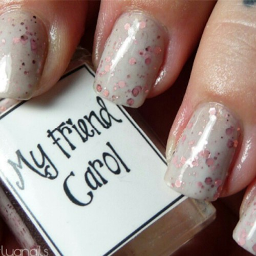 My Friend Carol by Whimsical Nail Polish by Pam concludes Whimsical Week! gnarlygnails.com #nailstagram #nailsofinstagram #indiepolish #whimsicalnailpolish #gnarlygnails