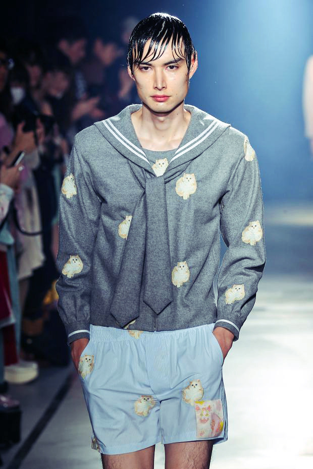 Mikio Sakabe Autumn (Fall) / Winter 2013      I hope random cats on clothes becomes the next big trend because then my wardrobe will finally be hip