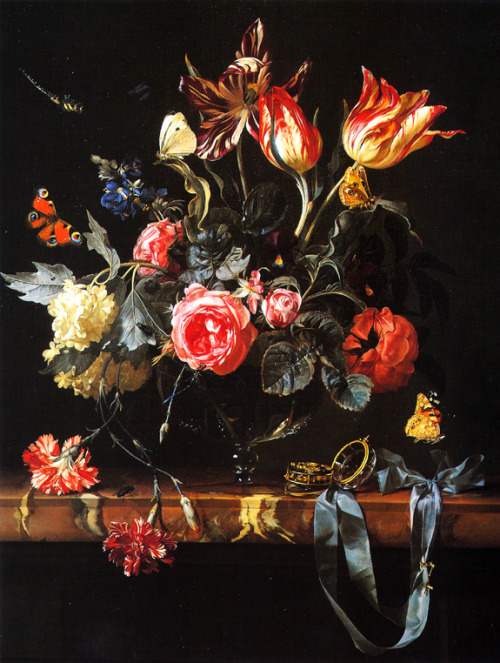destructs:  Willem van AelstVase of Flowers, 1658