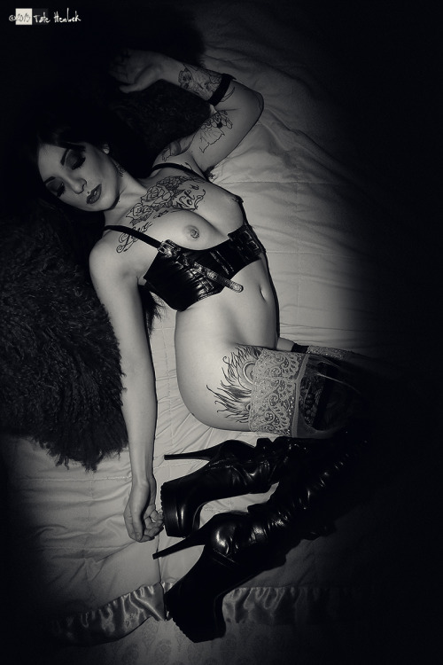 Dirty Boots. Ally Joykill in black and white…