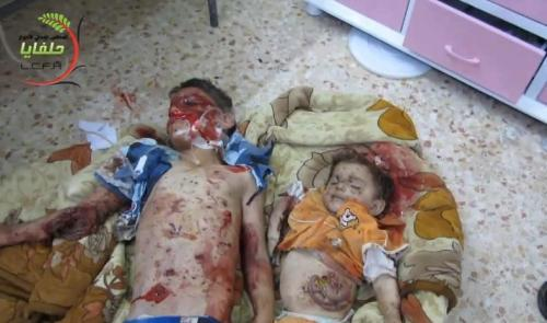 Brothers Hazem and Zaher Annan were killed by Assad's forces when their home was shelled on May 9th, 2013 in Helfaya, Hama (Syria). Thanks @SyrianDayofRage