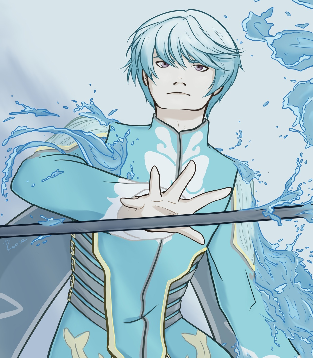 I need water… And him too! 🙈 #mikleo #tales of zestiria #toz#mikleo toz#blue#water #mikleo tales of zestiria #mineart#raose
