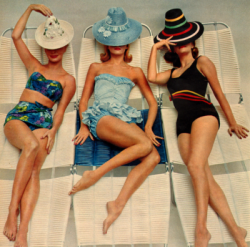 theglitterguide:  Retro-inspired swimsuits for summer