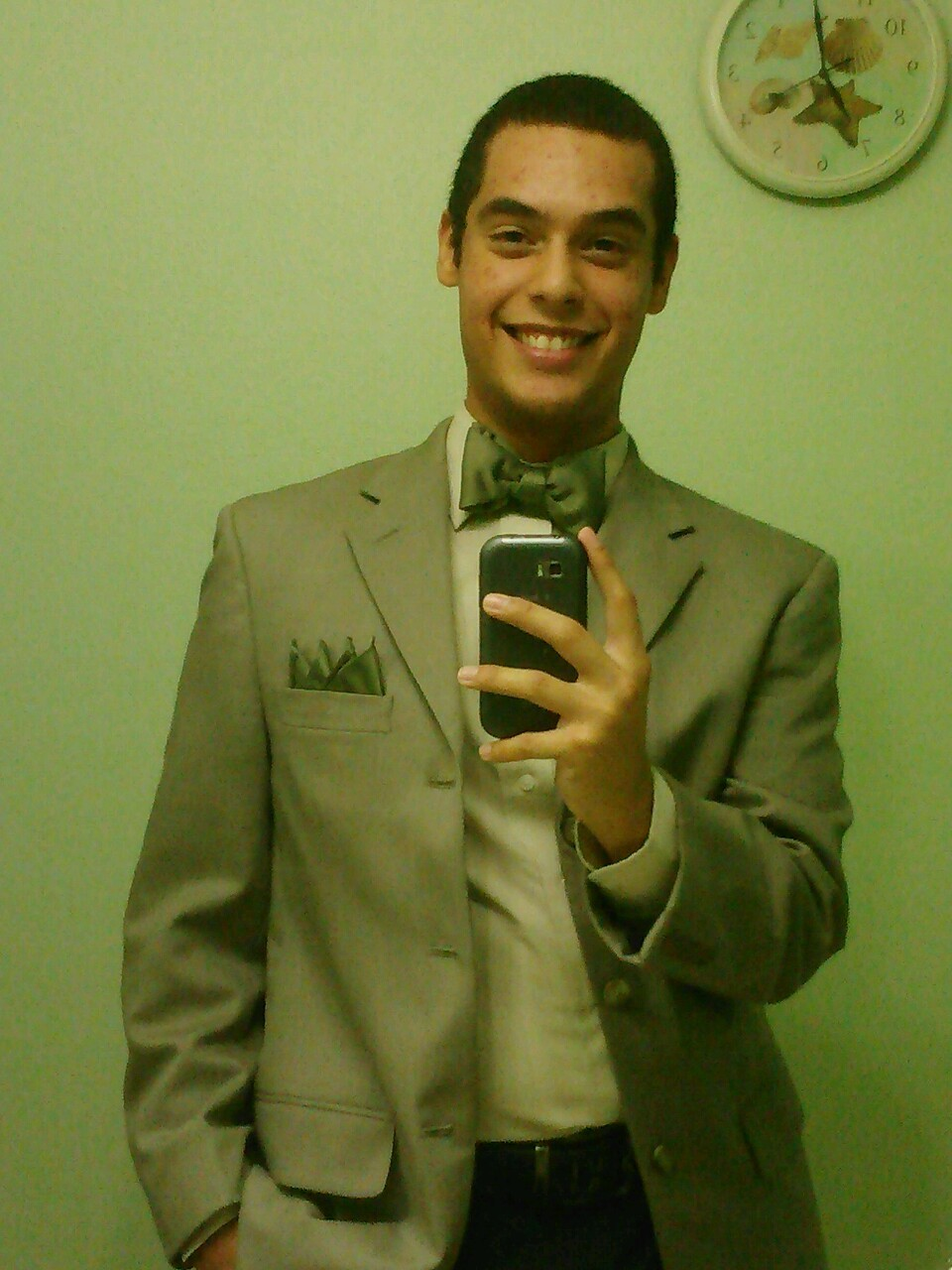 And as long as I've got my suit and tie… jacket and pants…  Whatever. :p