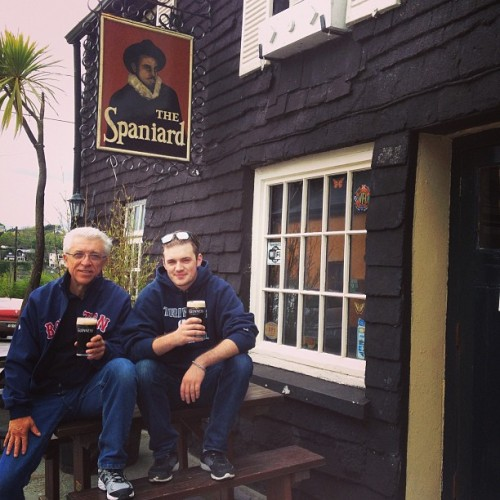 Couple pints with Dad  (at The Spaniard)