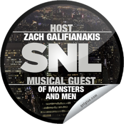"I just unlocked the Saturday Night Live: Zach Galifianakis and Of Monsters and Men sticker on GetGlue                      4015 others have also unlocked the Saturday Night Live: Zach Galifianakis and Of Monsters and Men sticker on GetGlue.com                  You're ready for big comedy and ""Little Talks"" on SNL! Zach Galifianakis is tonight's hilarious host with musical guest Of Monsters and Men. Thanks for watching Saturday Night Live tonight! Share this one proudly. It's from our friends at NBC."