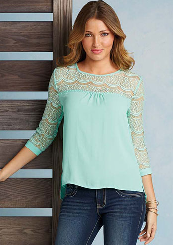 Harper Blouse - $36.90, Alloy  How gorgeous are the lace details on this blouse? I think it'd be perfect with a black pencil skirt for work or with skinny jeans for the weekend. And yes, I am already looking for spring clothes. I'm over winter!