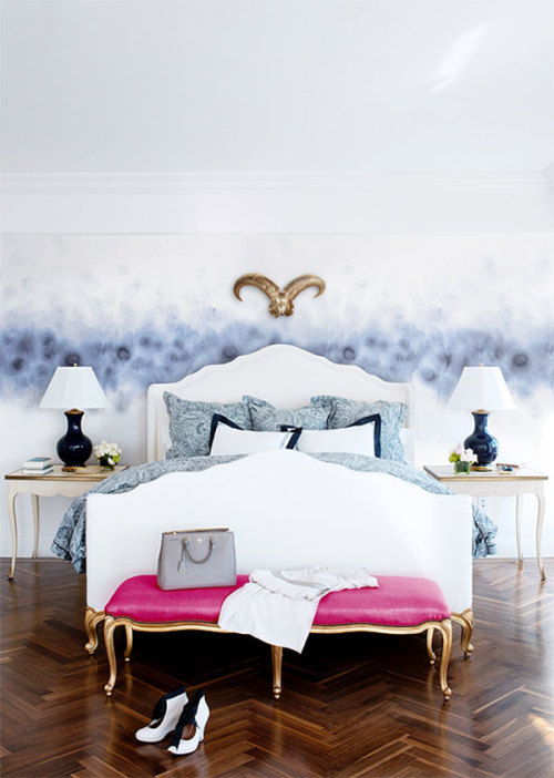 That white bed with golden legs!