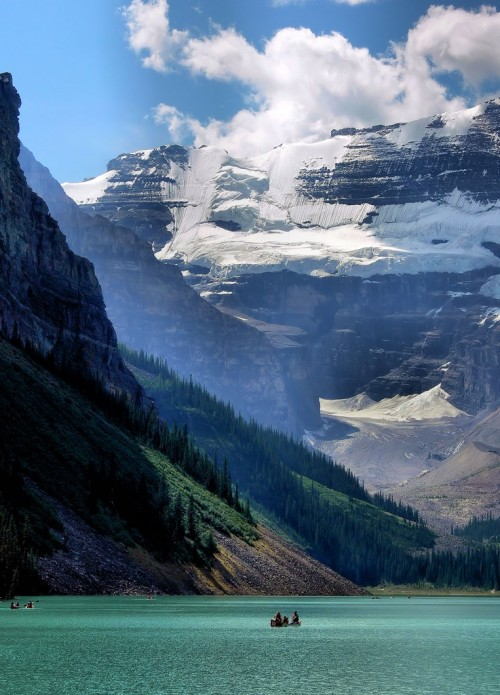 crooksh4nks:  Lake Louise       Wonder why such breath-taking creations of nature are not considered as among the wonders of the world… why do pyramids and leaning towers get more credit?