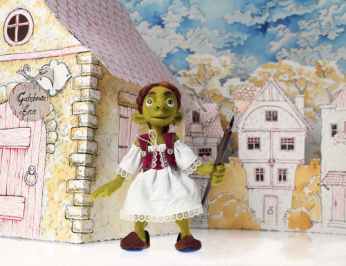 I made this goblin girl (and accompanying paper scenery) for another assignment. Her name is Muriel. I did a five-page photo comic with her, which I will also post eventually.
