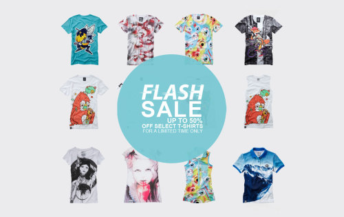 Don't forget in this weeks flash sale we have up to 50% off select T-Shirts for a limited time, so don't miss out grabbing a Drop Dead bargain
