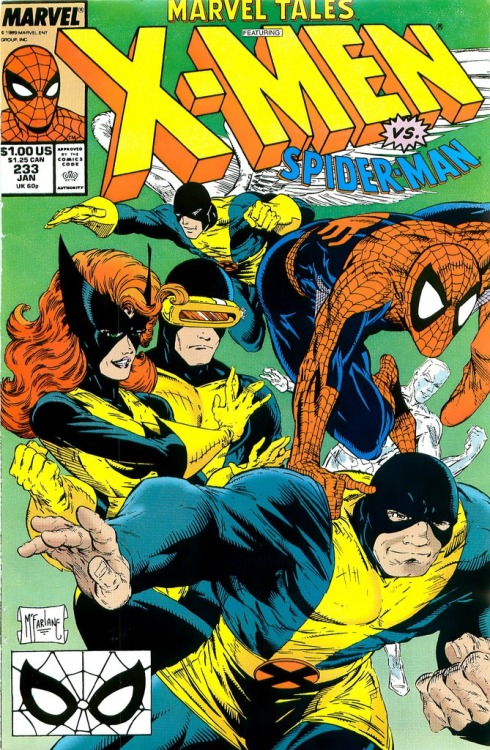 daveloves90scomics:  Spider-man and the X-men, by Todd McFarlane.