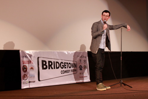 portlandstandupphotoalbum:  Moshe Kasher. Bridgetown Festival. Opening Night. Bagdad Theater. 04/18/13. Photo by Jason Traeger.