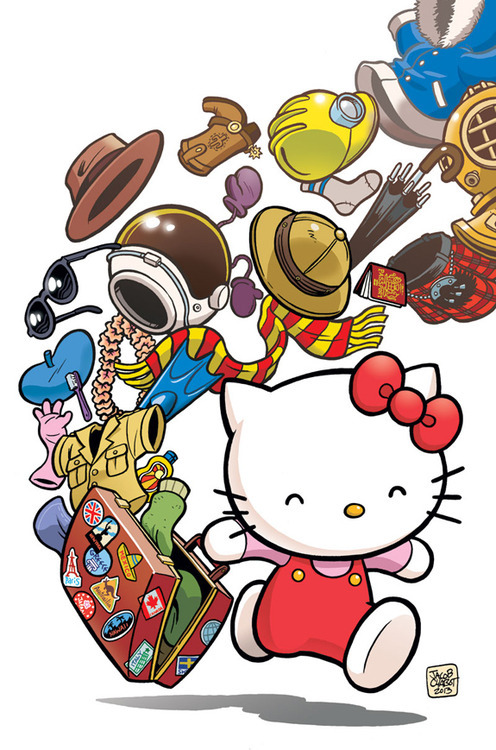 Cover art to 'Hello Kitty: Fashion Music Wonderland' by Jacob Chabot, published by VIZ Media.