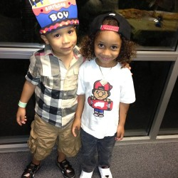 itskindabreezii:  classyvuitton:  T.I.'s & Lil' Wayne's son  aww Major and Tunie   Cute.