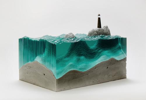 homelimag:  'Broken Liquid' Glass and Concrete Sculptures by Ben Young via Homeli.co.uk ~ { Facebook   Twitter   Tumblr }