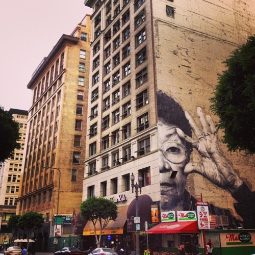 gera4banger:  #Wrinkles of the #City by @jr #LosAngeles #DownTown #Art #WheatPaste