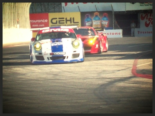 A heavily cropped photo I took at the 2010 Grand Prix of Long Beach through a hole in the fence.