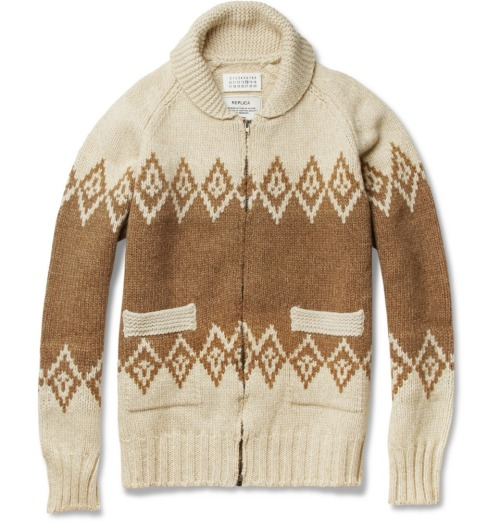 Maison Martin Margiela Fair Isle Cardigan Available at www.mrporter.com (added to santa's list)