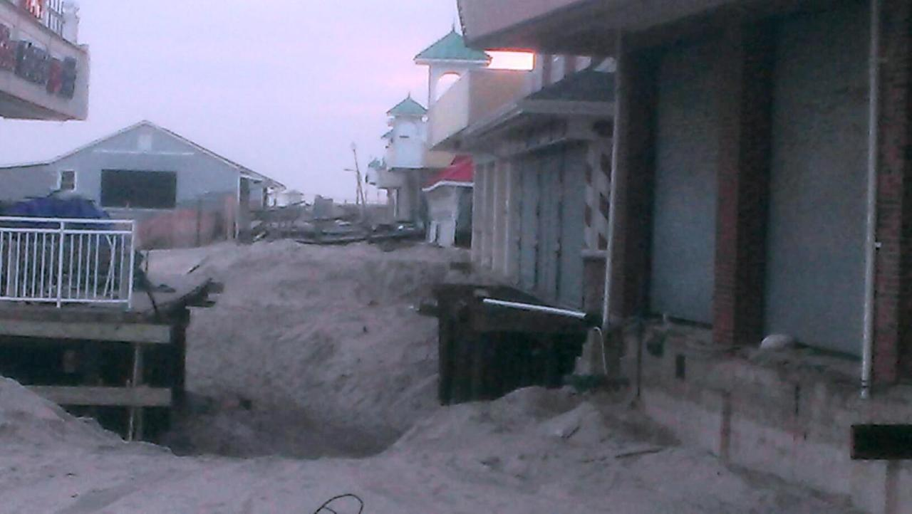 Part of the Point Pleasant, NJ boardwalk after the storm. Other parts are already open, but there is still much to be rebuilt.