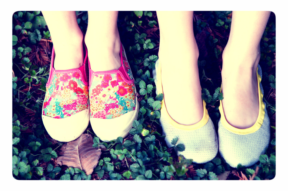 Peek.. shoes are full of color and prints this season.