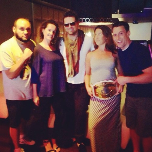 @theshowrock1053 with wrestler The Miz at the WWE SummerSlam