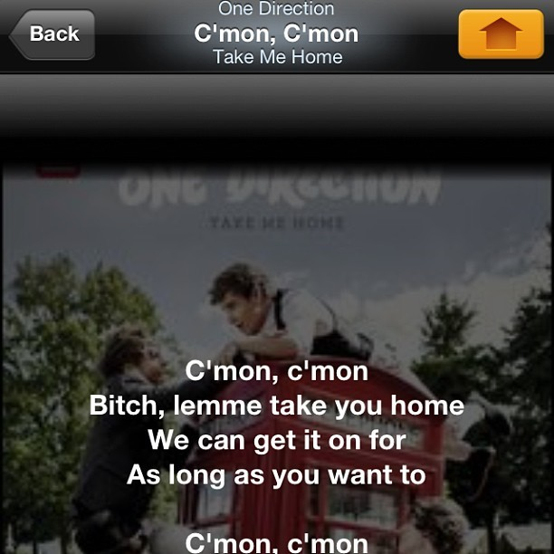 Uhm, no #SoundHound those are not the lyrics to #OneDirection 's song.. #Dirty #Lyrics #1D #WhatsWrongWithYou
