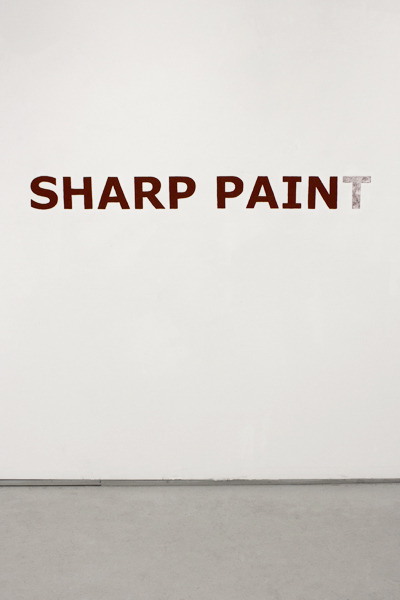 mitjaissick:  Jennifer Grimyser Sharp pain(t), 2012  acrylic on wall, size varies