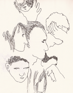 ohaymrdth:  sketches of people reading