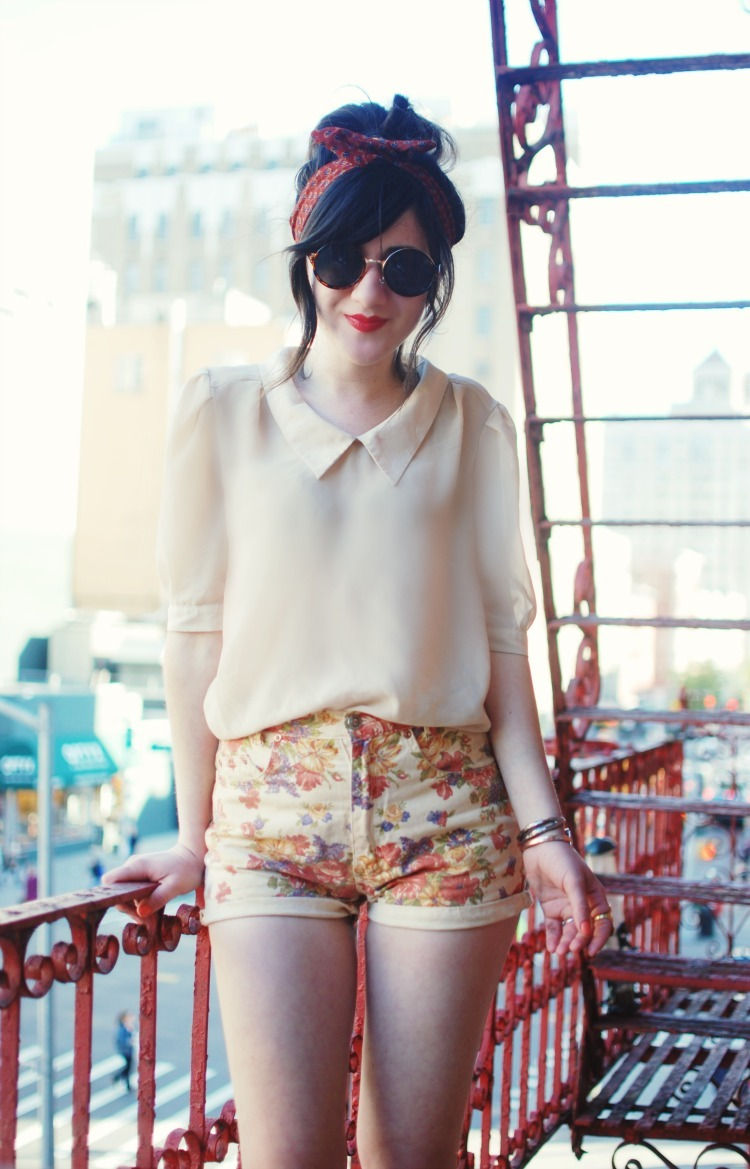modcloth:  Bonnie, of Flashes of Style, looks adorable in floral shorts, a flowy top and round sunnies. Perfect spring look! <3 Amy, ModStylist Need styling suggestions, trend tips, or dress details? Ask a ModStylist and your question might be featured on our feed