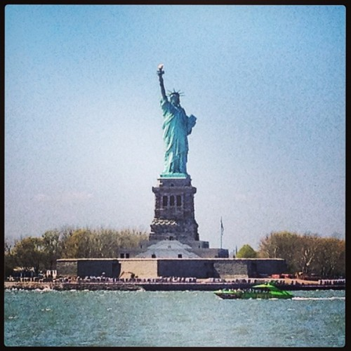 There she goes..a Beacon of light and hope  (at Statue of Liberty)
