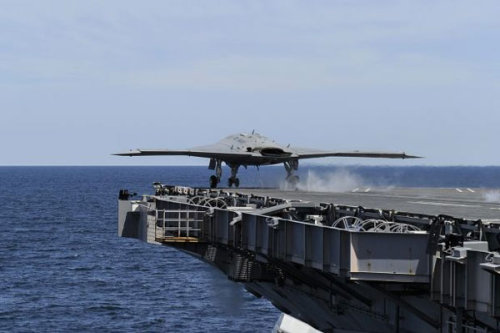 popmech:  X-47B Takes Off From an Aircraft Carrier
