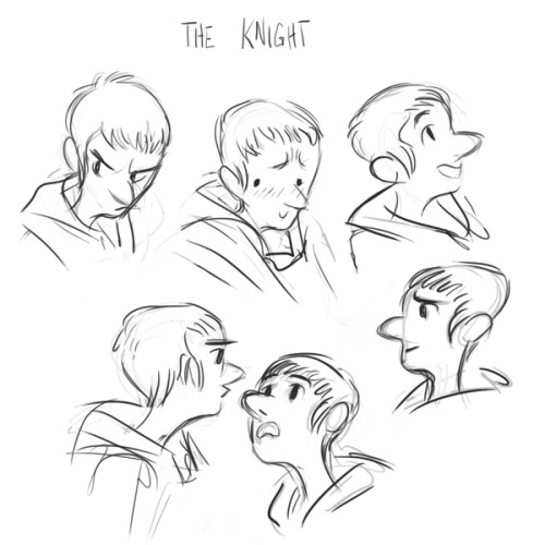 "Trying to get a better understanding of the facial proportions/expressions of the Knight, from my project ""The Princess & The Knight"""