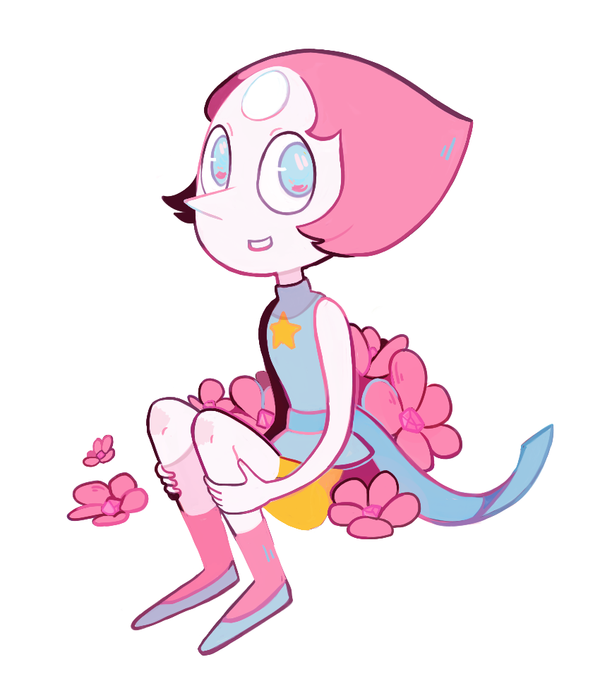 A teeny transparent Pearl ❀ ❀ ❀ Garnet -