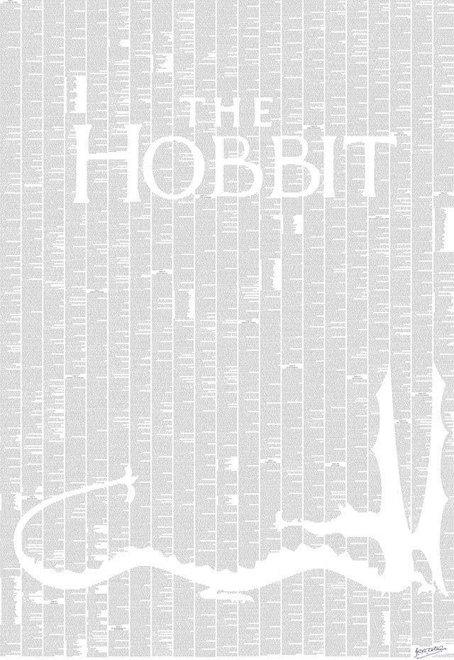 thoughtsofadventure:  the entire text of The Hobbit on one poster. this is amazing.