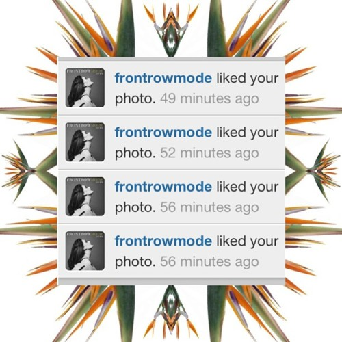 Thank you @frontrowmode ❤ dooset daram XXX #ff #mustfallow #style #fashion #magazine #uae #gcc #kuwait #dubai #ny #milan #paris #london