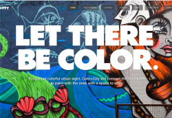 COLOR + CITY- Hannah Bardo wrote in Graffiti, Design and Urban  Brazilian graffiti artists are beautifying their cities and inspiring their fellow citizens through an innovative, online collaboration that connects people willing to offer a space to those willing to paint it! The movement has taken off and hopes to spread internationally. Continue to colorpluscity.com.br
