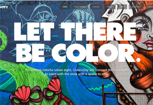 good:   COLOR + CITY- Hannah Bardo wrote in Graffiti, Design and Urban Brazilian graffiti artists are beautifying their cities and inspiring their fellow citizens through an innovative, online collaboration that connects people willing to offer a space to those willing to paint it! The movement has taken off and hopes to spread internationally. Continue to colorpluscity.com.br