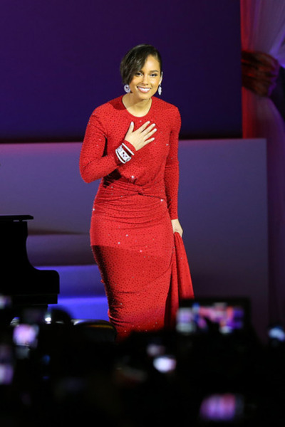 Alicia Keys In Michael Kors at the 2013 Inaugural Ball