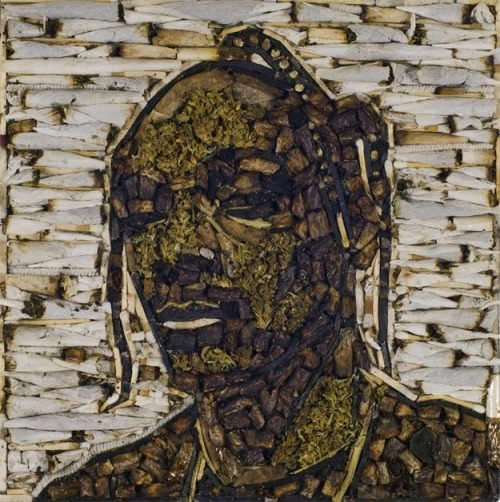 So, this is a portrait of Snoop Dogg made of weed.