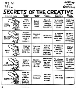 Brilliant, as usual nevver:  Secrets of the Creative