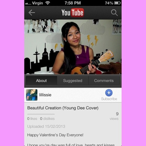 Beautiful Creation #youtubecover #youtube Link: ➡ www.youtube.com/watch?v=1g50x4SZkSU             ENJOY! xx