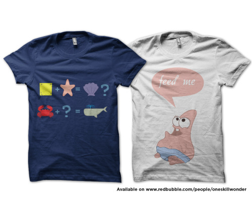 Hi Spongebob lovers! We got two new merchandise up for sale on Redubble.com. Stickers, iphone cases and other apparels are also available! Thank you for your time!!
