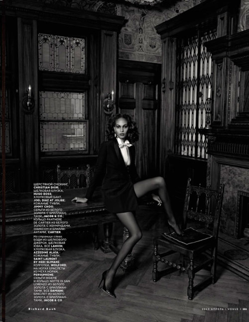 Vogue Russia, April 2013 (+) photographer: Richard Bush Joan Smalls
