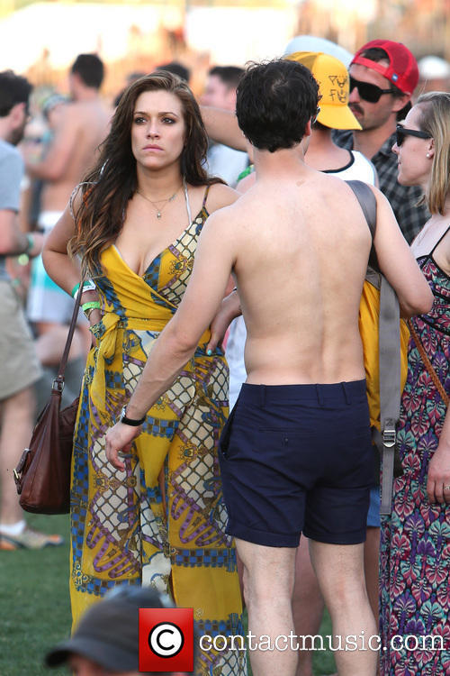 Darren Criss & Mia Swier at Coachella 2013. [Source]