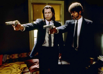 "sala66:  John Travolta y Samuel L. Jackson en ""Pulp Fiction"", 1994"