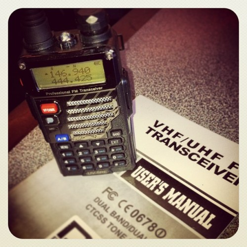 my new HT for 2m/70cm. baofeng uv-5re. #baofeng #ht #hamradio #gearporn #ve1land by altitude604 http://instagr.am/p/VZXyZAP9Qb/